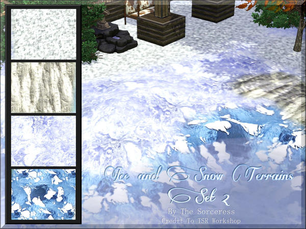 Ice And Snow Terrains Set 2 by thesorceress