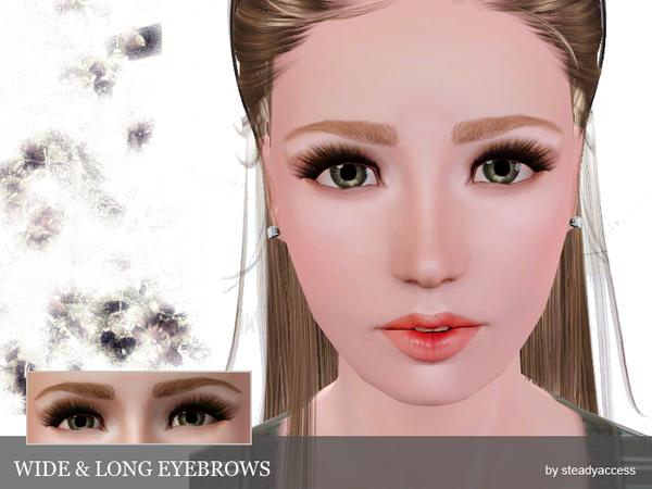 Wide & Long Eyebrows By steadyaccess