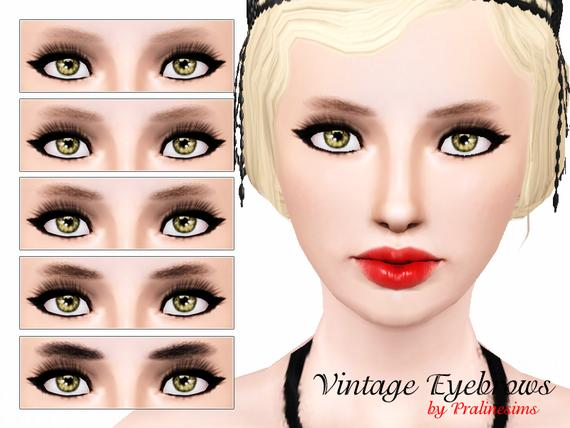 Vintage Eyebrows By Pralinesims
