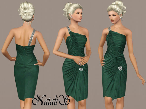 Jersey dress with frills YA-FA by NataliS