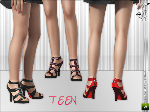 Glam Shoes for Teen by Simsimay
