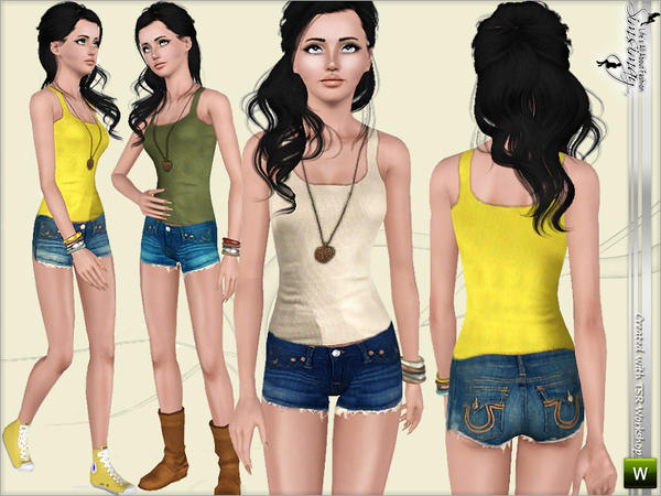 Today is Sunny! Top & Shorts Set by Simsimay
