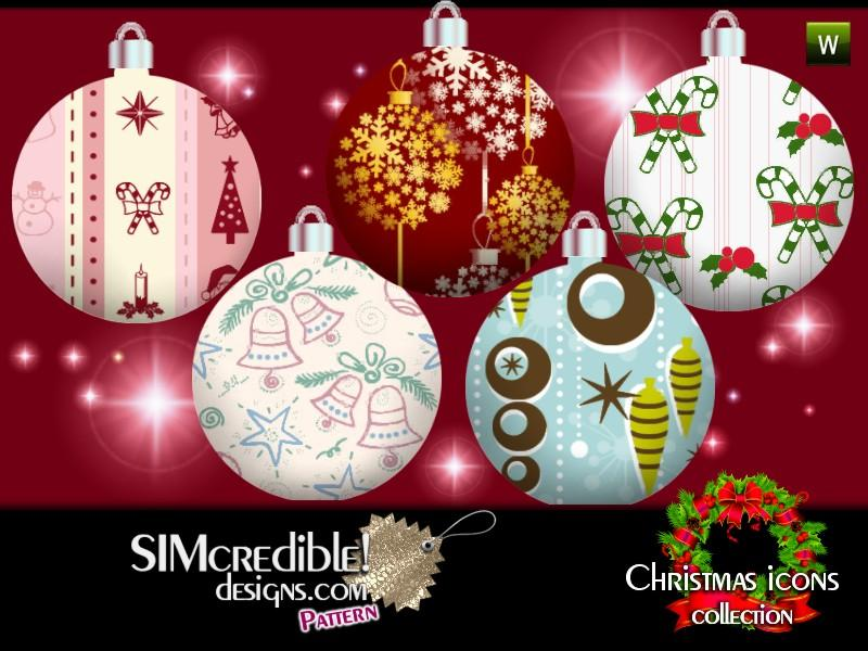 Christmas Icons Patterns by SIMcredible!