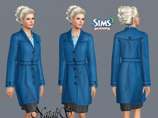Belted single breasted coat FA-YA  by NataliS