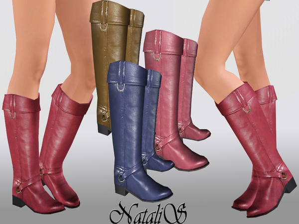 NataliS TEEN flat leather boots 001 FT