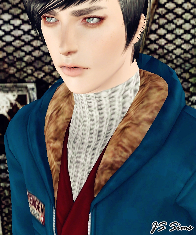 JS SIMS 3 Fur Trimmed Parka For Males (Outerwear)