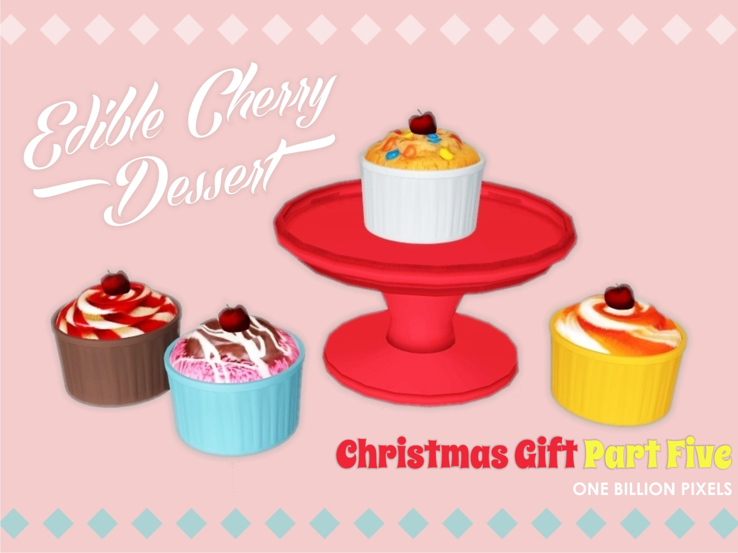 Christmas Gift Part 5 (Edible Cherry Dessert) by NewOne