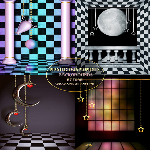 Mysterious Moments backgrounds by Torri