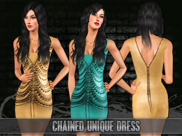 Chained Unique Dress by Saliwa
