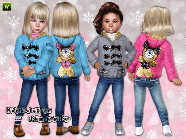 Winter Coat with Skinny Jeans ~ Outdoor by lillka