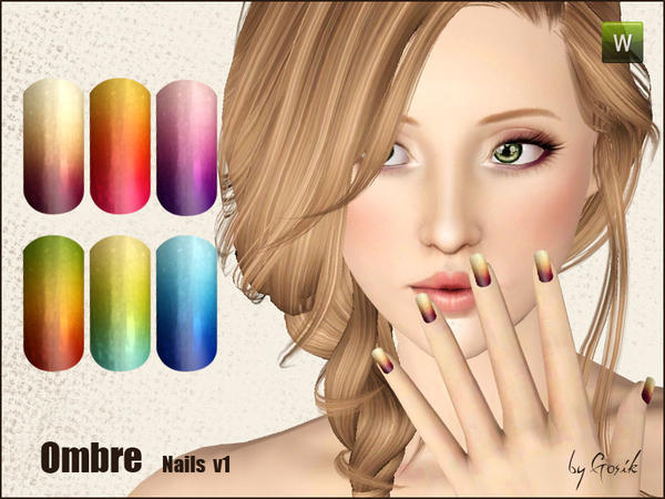 Ombre nails v1 by Gosik