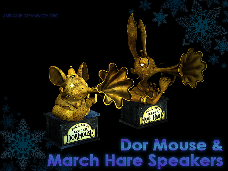 Dormouse & March Hare Speakers (Stereo) by Veritas