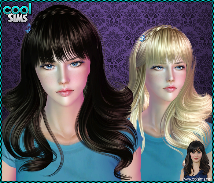 Zooey Deschanel Hair by CoolSims