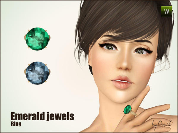 Emerald jewels by Gosik