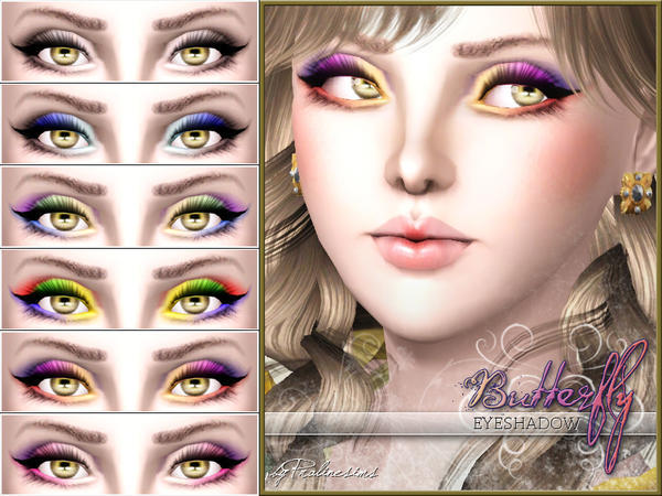 Butterfly Eyeshadow by Pralinesims