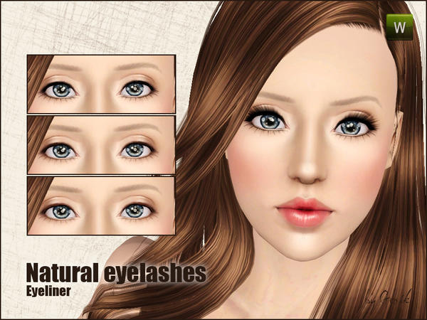 Natural eyelashes by Gosik