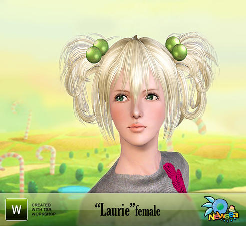 Newsea Laurie Female Hairstyle with hair ball accessory