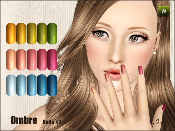 Ombre nails v2 by Gosik