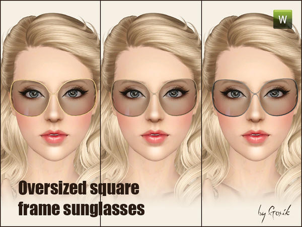 Oversized square-frame sunglasses by Gosik