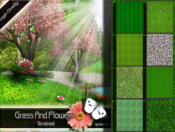 Grass And Flowers ♠Terrainset♠ от Pralinesims