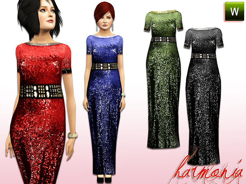 ELDER ~ Liquid-Effect Maxi Dress by Harmonia