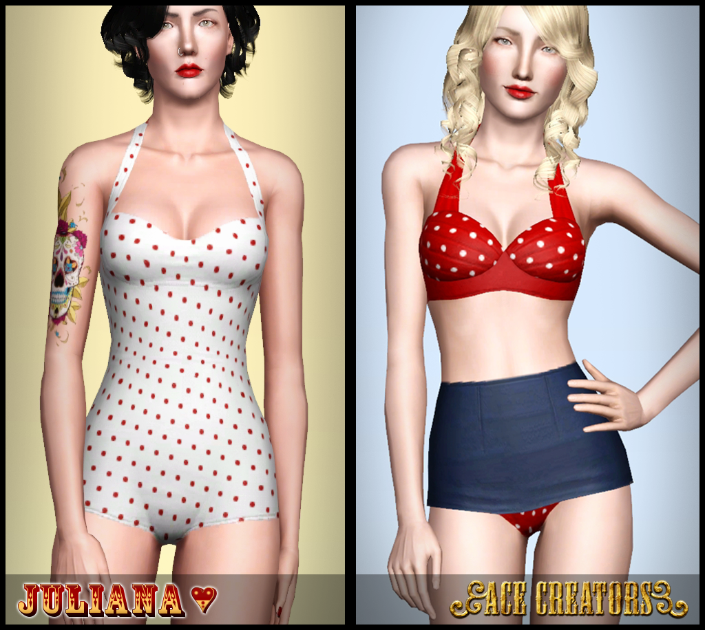 Retro to Go - Swimwear Set by Juliana
