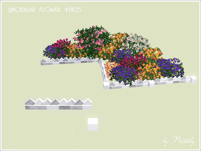 Modular Flower Fences by Nataly