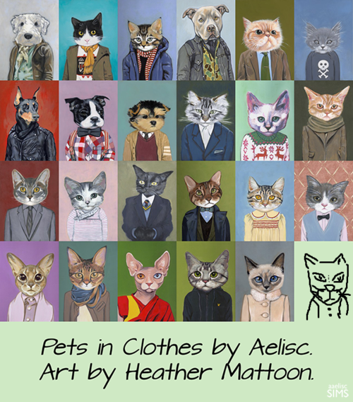 Pets in Clothes by Aelisc