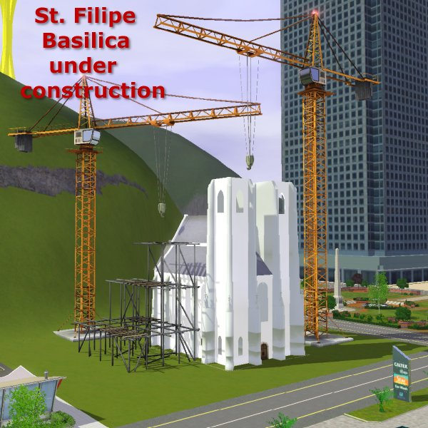 St. Filipe Basilica under construction by CFP