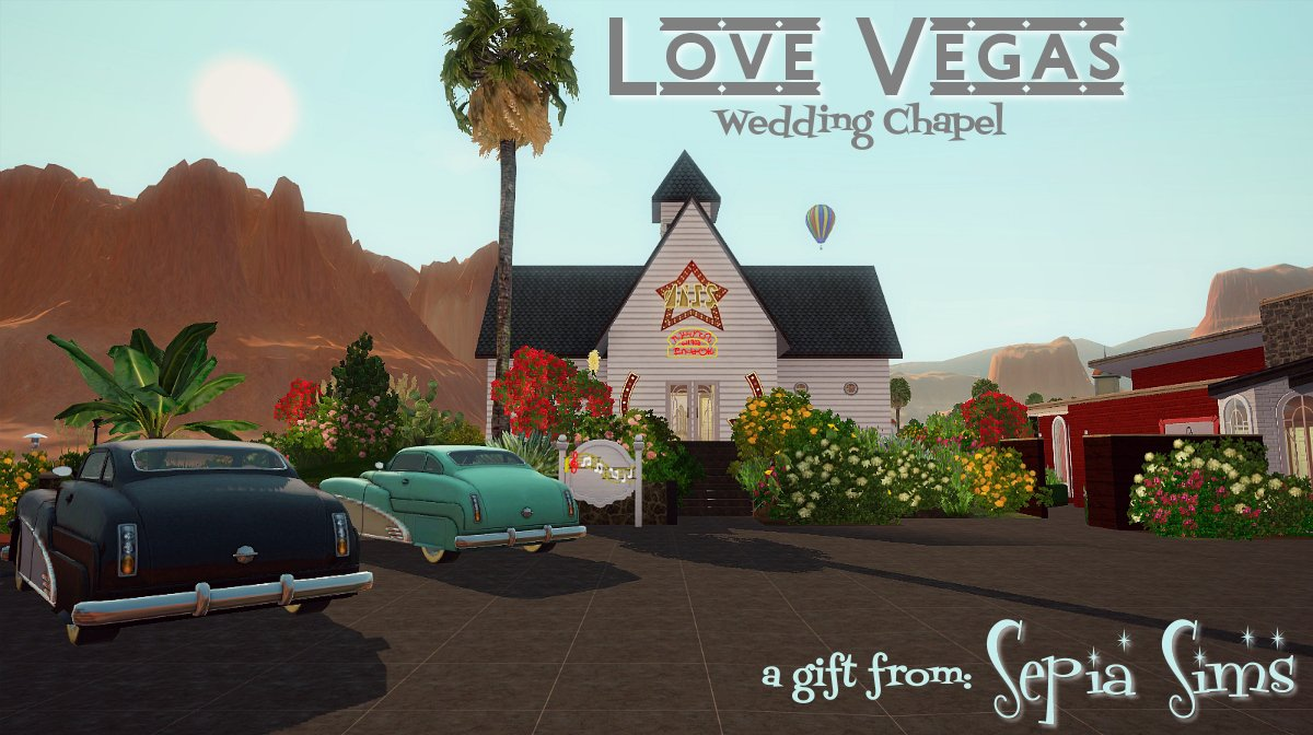 Love Vegas  Wedding Chapel by sepia sims