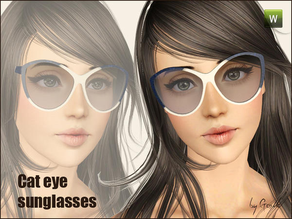 Cat eye sunglasses by Gosik