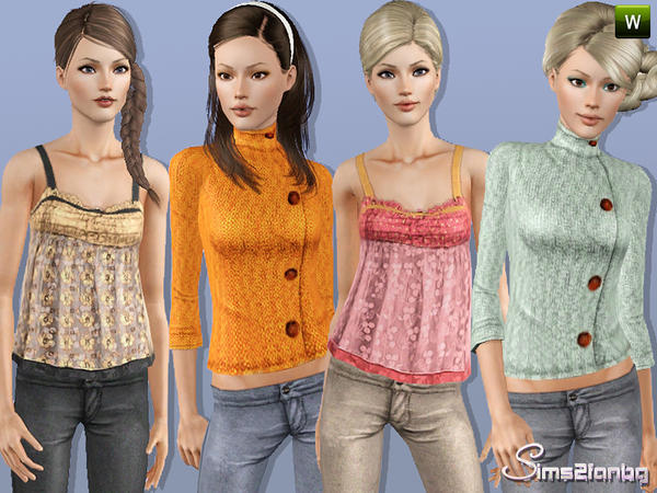 300 - Casual set by sims2fanbg