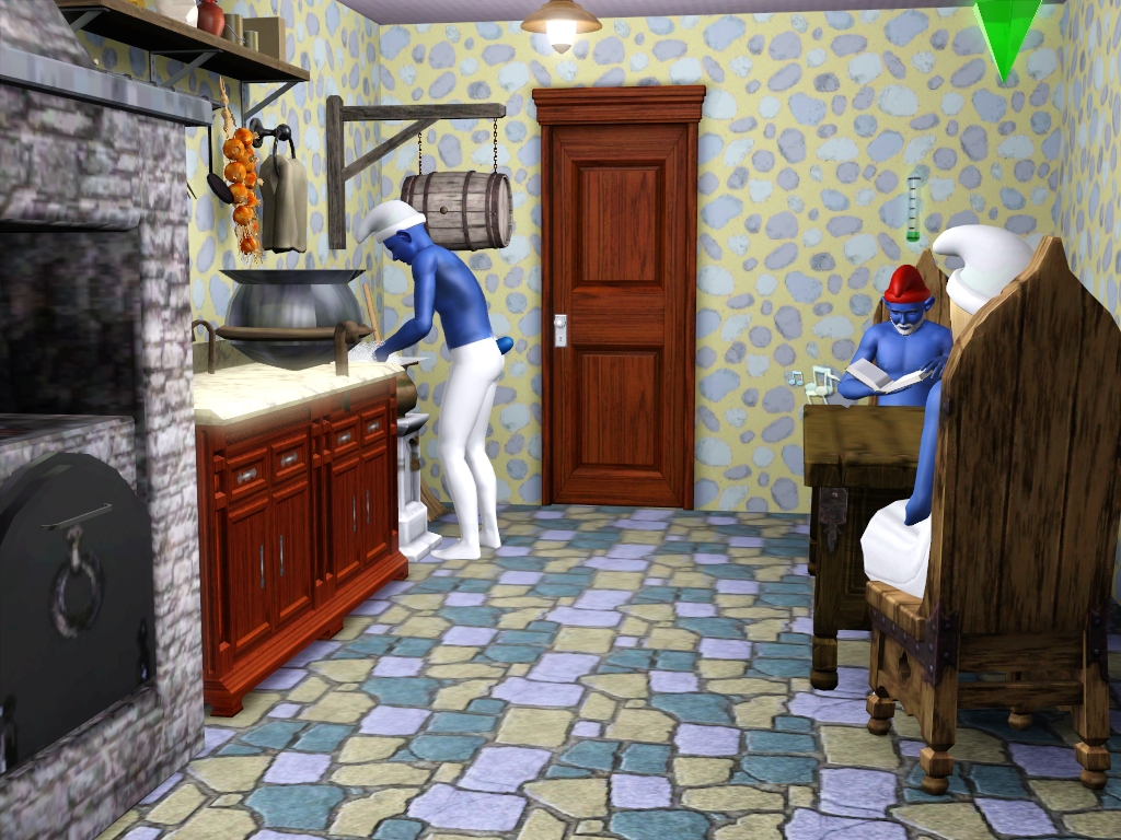 3 Smurfs Sims and a Smurf House by Sil Sharkie