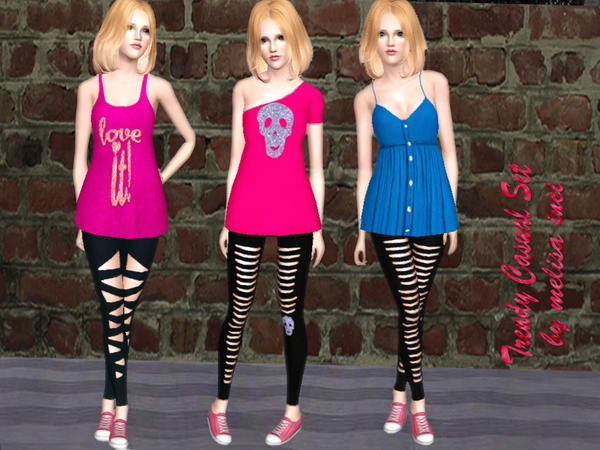 Trendy Casual Set by melisa inci