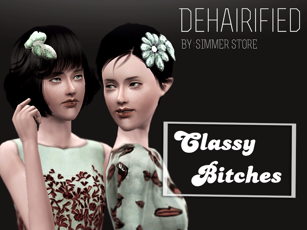 New Hair Accessories Dehairified by Simmer Store