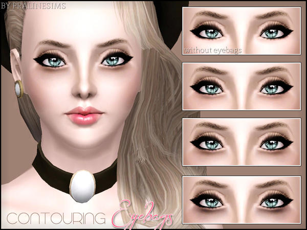 Contouring Eyebags by Pralinesims