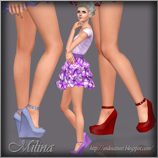 Shoes on a platform sole by Milina