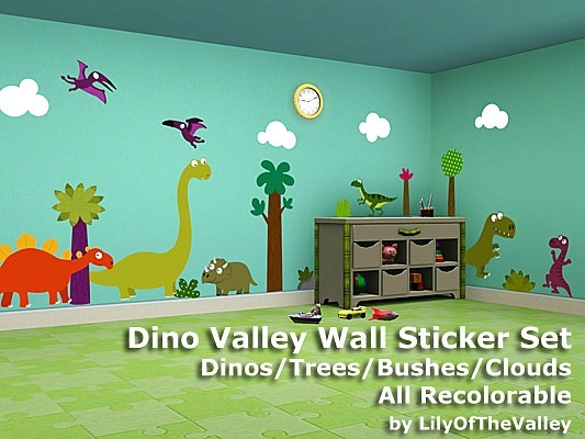 Dino Valley Wall Sticker Set by LilyOfTheValley