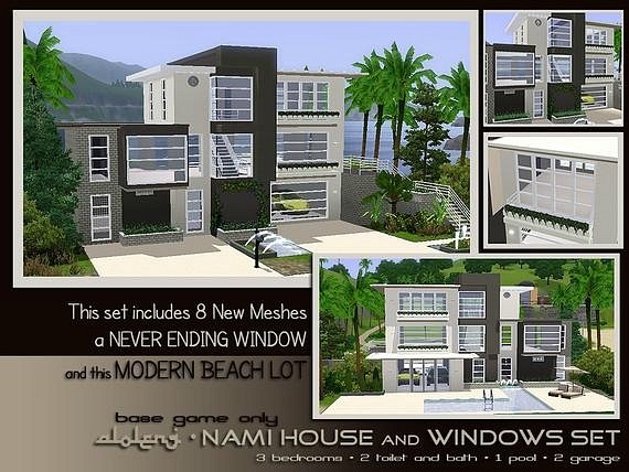 Nami Beach House and Windows SET by Aloleng