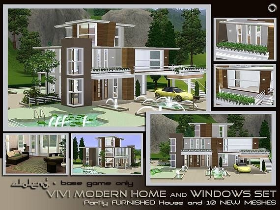 Vivi Modern House and Window SET by Aloleng