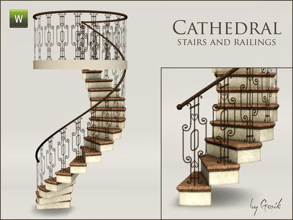 Cathedral spiral stairs and railings by Gosik