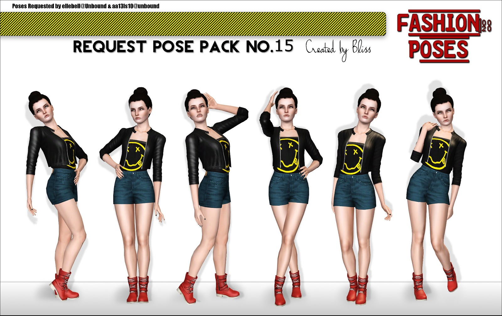 Request Pose Pack No.15 Fashion Poses by Bliss