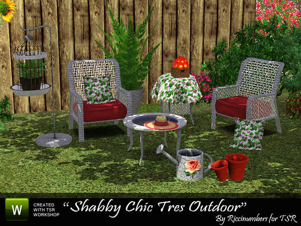 Shabby Tres Outdoor by Riccinumbers