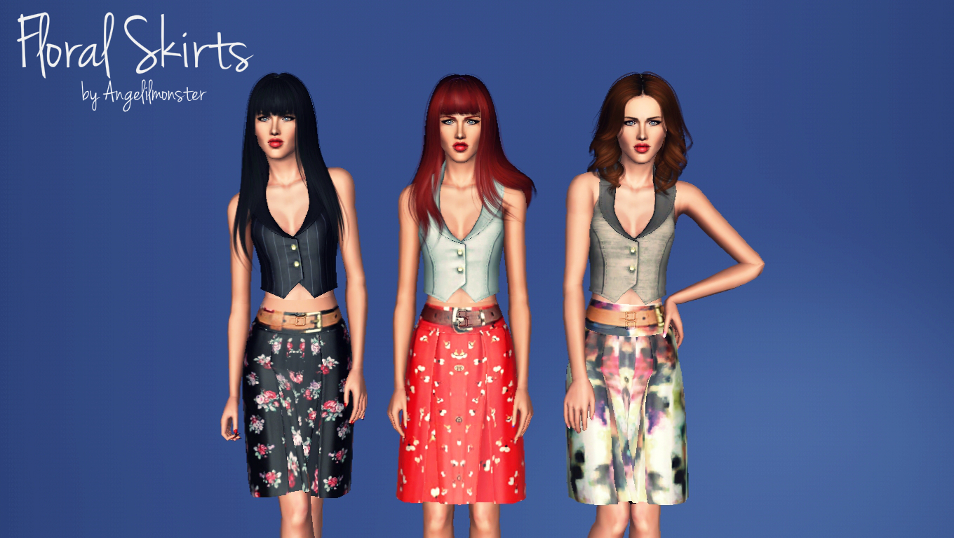 Floral Skirts by Angelilmonster