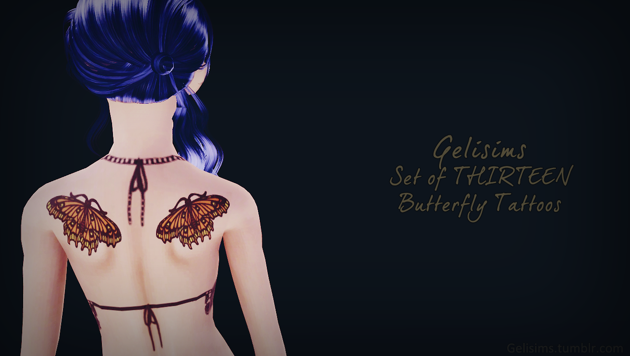 13 butterfly tattoos by GeliSims