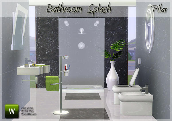 Bathroom Splash by Pilar