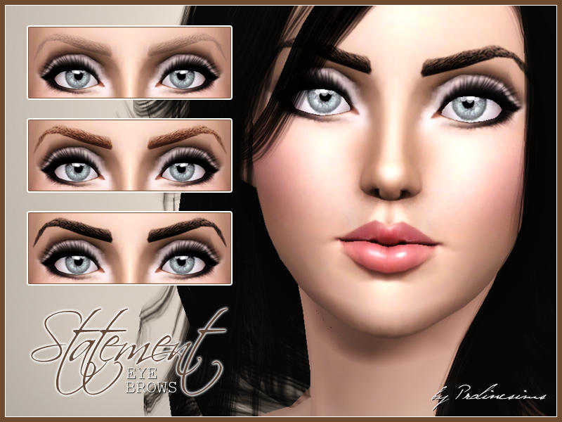 Statement Eyebrows by Pralinesims