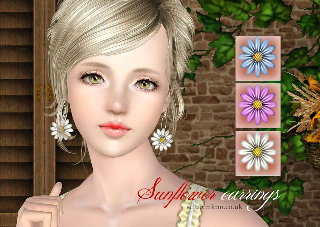 Sunflower Earrings & Ring by S-Club
