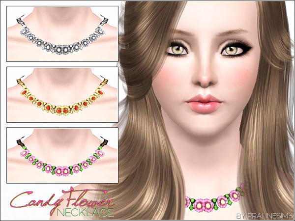 Candy Flower Necklace by Pralinesims