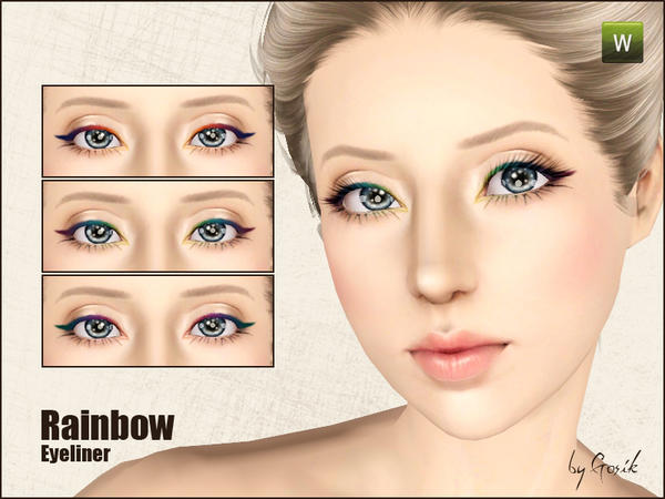 Rainbow eyeliner by Gosik